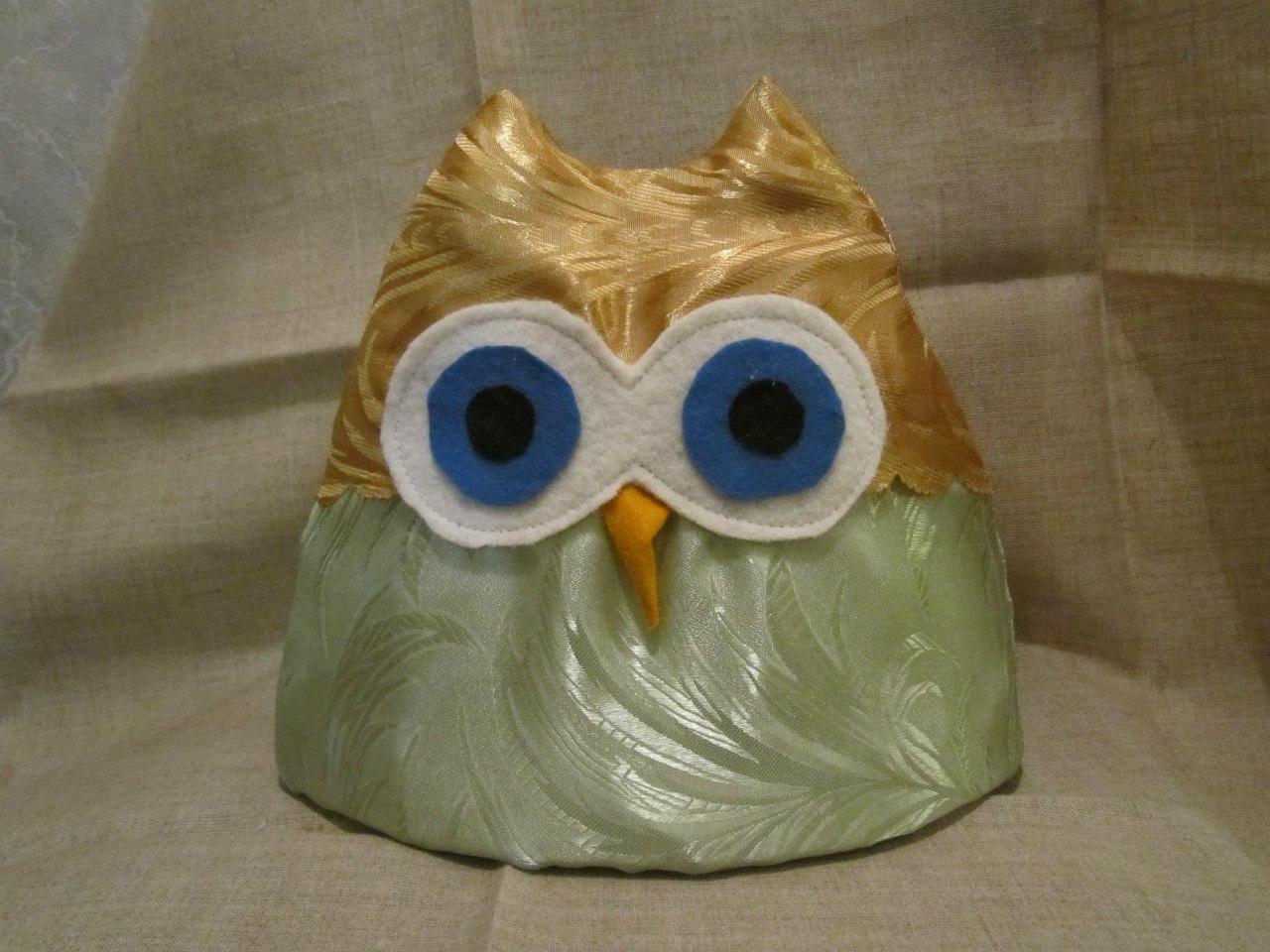 Грелка сова на чайник своими руками